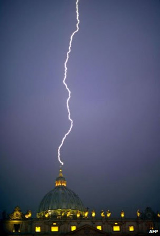 How likely is lightning at St Peter's?
