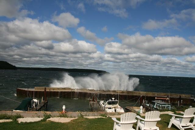 Gills Rock windstorm 2010