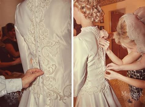 Although many brides opt for the 'zip up' wedding dress