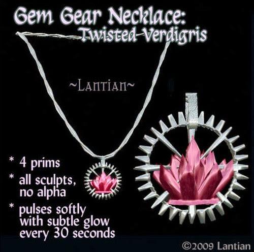 69L Lantian Gem gear Necklace