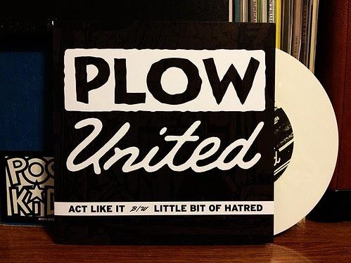 "Plow United - Act Like It 7"" - White Vinyl (/100) by Tim PopKid"