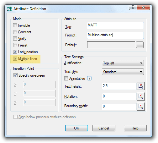 Jtb World Blog Multiline Attributes In Autocad 2008