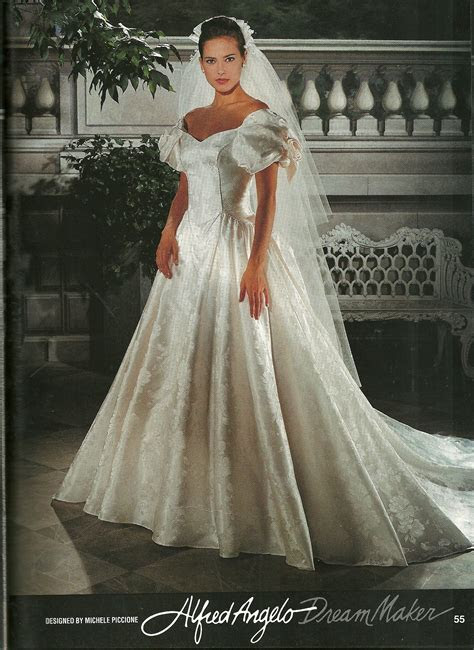 This is mom's wedding dress from the early 90s.   W