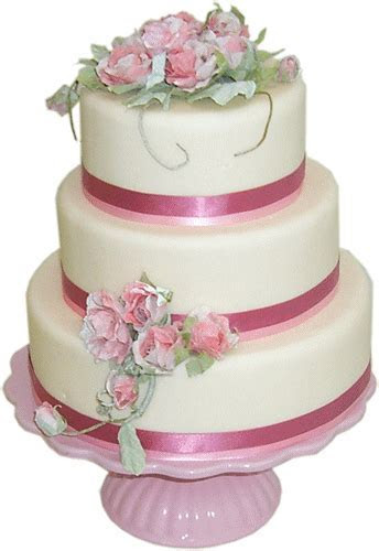 Pink Shabby Chic   Kimboscakes   Wedding Cakes