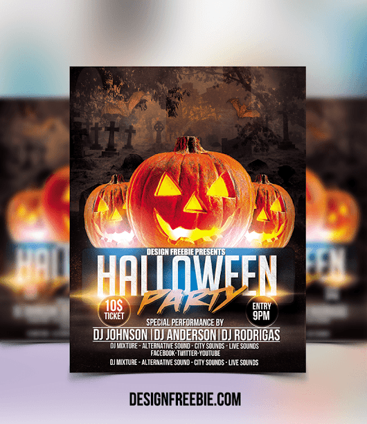 Download this Free Halloween Party Flyer Template