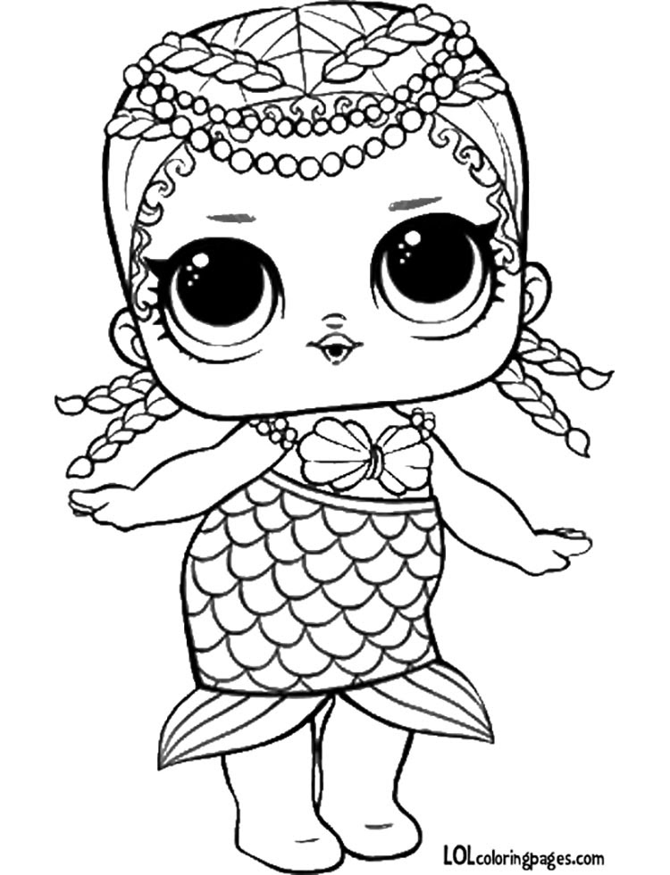 Miss Baby Lol Doll Coloring Pages - Coloring And Drawing