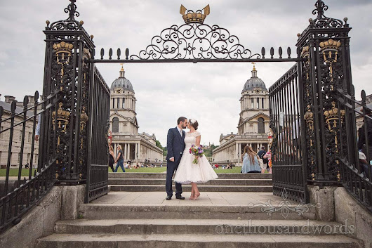 Greenwich wedding photographs at Trafalgar Tavern with Amy & Neil -