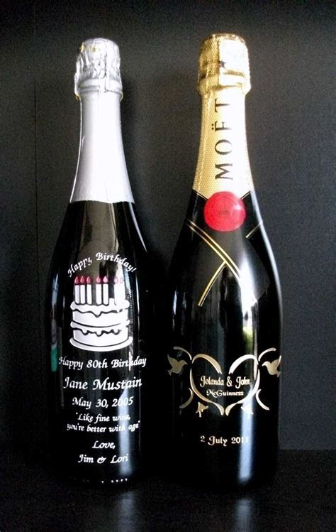 Personalized and Engraved Wine Bottle Artwork from Crystal
