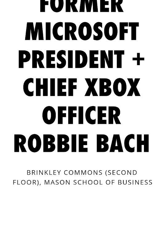 Former Microsoft President + Chief Xbox Officer Robbie Bach - Splash