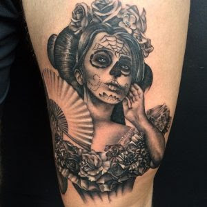 Day Of The Dead Woman Tattoo Modern Body Art