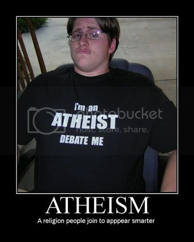 Atheism, a religion people join to look smarter