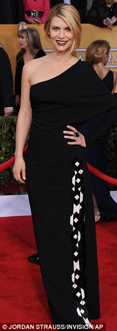 Shades of light and dark: Nicole Kidman, Julianne Moore and Claire Danes all wore variations on the monochrome theme to attend the SAG awards at the Shrine Auditorium in L.A. on Sunday night