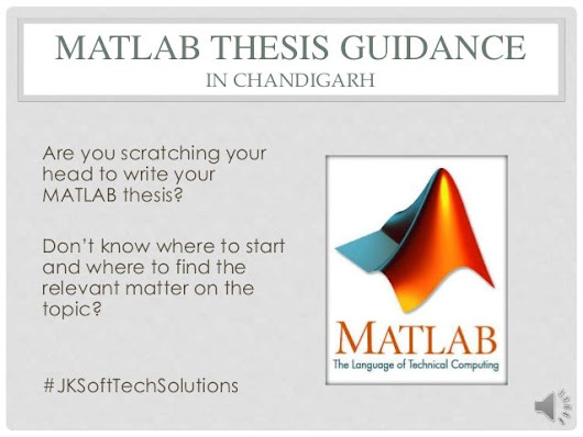 MATLAB Thesis Guidance in Chandigarh, Mohali
