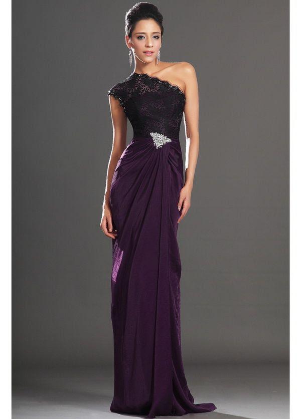 Purple dresses for evening