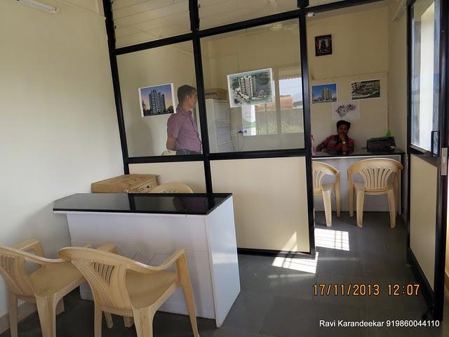 "Site Sales Office of Amit Rujuta Ventures' ""Gloria"" 1 BHK 1.5 BHK 2 BHK Flats at Nande near Hinjewadi on Pirangut Nande  Road Taluka Mulshi District Pune 412115"
