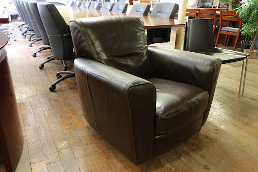 Brown Leather Club Chair — Peartree Office Furniture