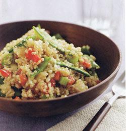 Asian Style Quinoa Salad made with White Quinoa