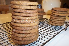 gingersnaps stacked
