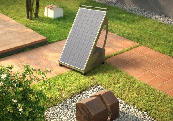 impianto fotovoltaico giardino