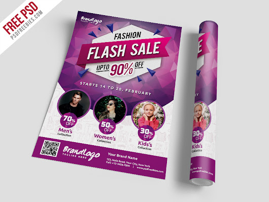 Fashion Sale Flyer Template Free PSD Download - Download PSD