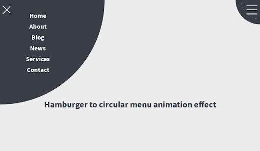 Hamburger Circular Menu In CSS