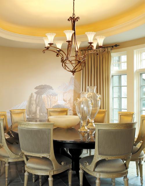 Corbett Lighting traditional dining room