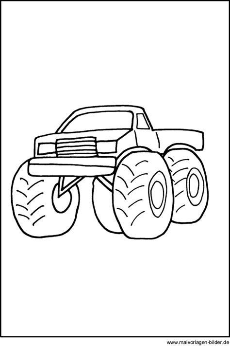 malvorlagen zum ausdrucken monster truck  kostenlose