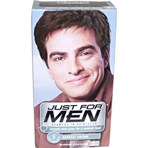 Amazon.com : Just for Men Shampoo-In Hair Color, Darkest ...
