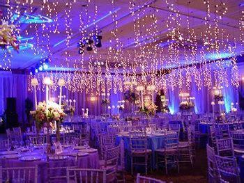 Wedding, Reception, Lighting, Royal Blue and Purple