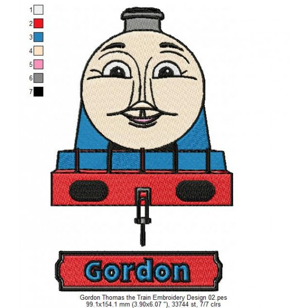 Gordon Thomas The Train Embroidery Design 02