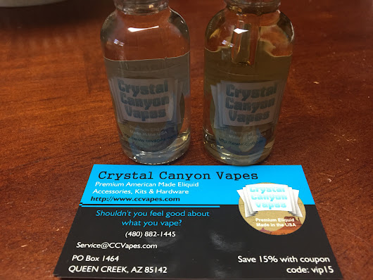 Crystal Canyon Vapes Liquid Review