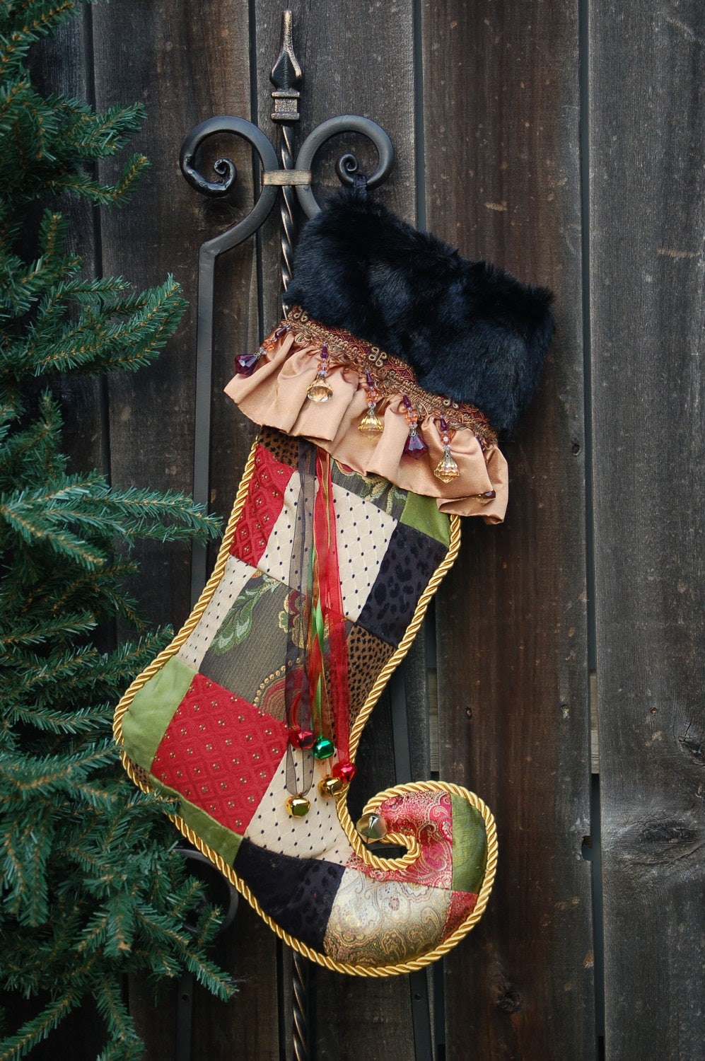 Harlequin Christmas stocking 1018