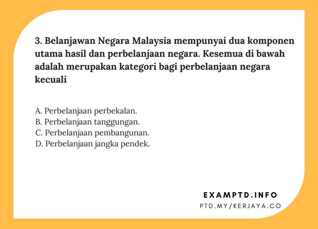 Contoh Soalan Penolong Pegawai Tadbir N29 KKM • Kerja