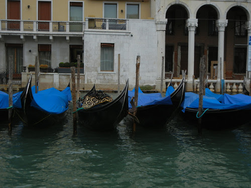 DSCN0623 _ Gondolas near Rialto, Venezia, 12 October