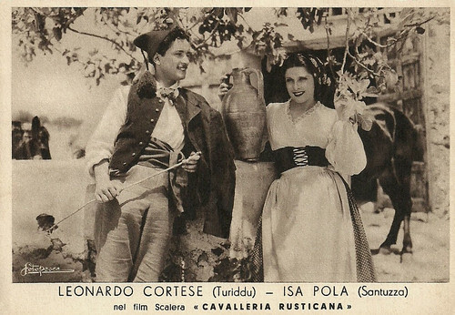 Isa Pola and Leonardo Cortese in Cavalleria rusticana