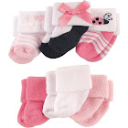 Luvable Friends Newborn Baby Socks, Multicolor