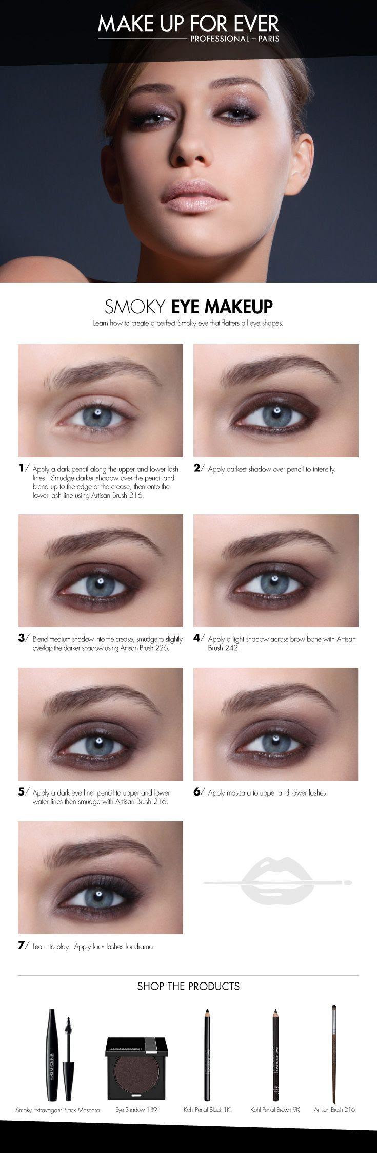 Smoky Eye Makeup #HowTo courtesy of #Makeupforever #Sephora #makeuptutorial #smokyeye