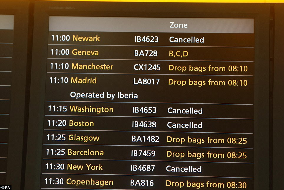 Holiday misery: Up to 2,500 Britons could be stranded in New York as flights are cancelled because of Hurricane Sandy