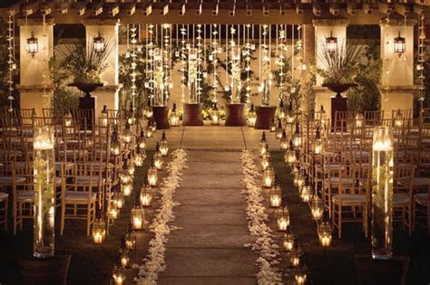 Love the lanterns down aisle!   wedding   Pinterest