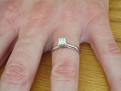 Up close engagement ring