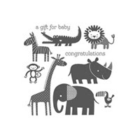 Zoo Babies Wood Stamp Set
