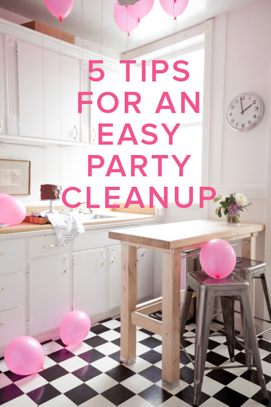 5 Tips for a Quick Party Clean Up