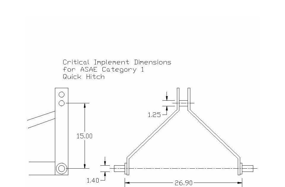 Wiring Diagram  5 3 Point Hitch Dimensions Diagram