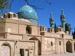 iran-mosque-dome-blue-brown