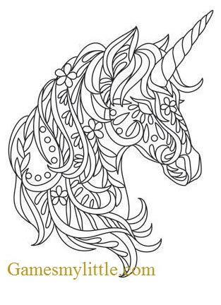 6600 Top Coloring Pages Unicorn Head , Free HD Download