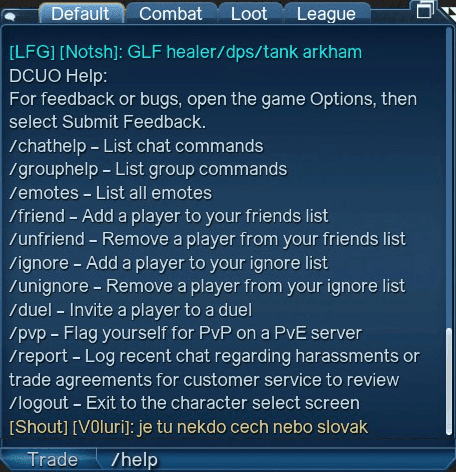 Chat Commands