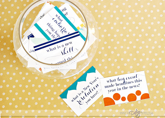 New Year's Reflection Game Free Printables