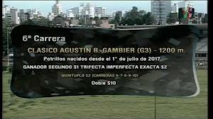 Nuestro candidato TIO BOY $2,40 ganó el Clásico Agustín B. Gambier G3 y encabezó nuestra Trifecta