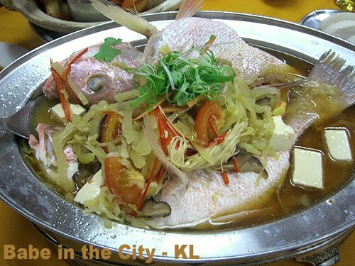 WP - steamed snapper teochew style (RM52.30)