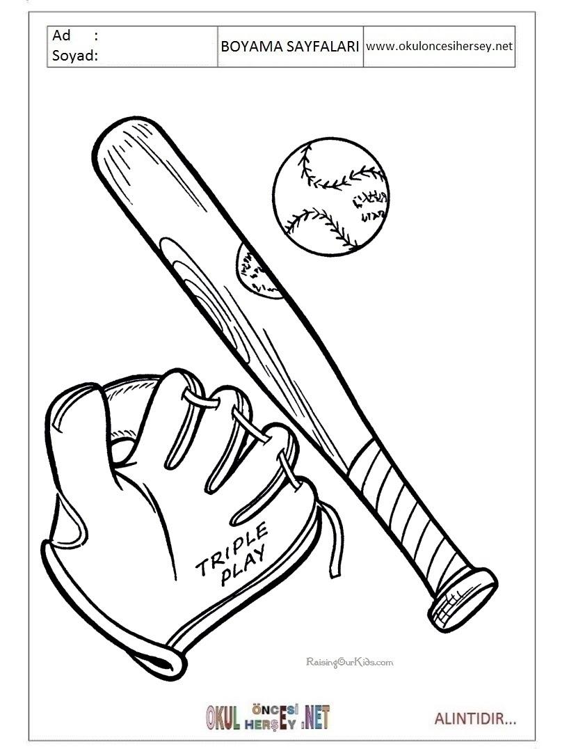 Beyzbol Boyama Sayfaları